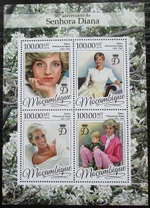 Mosambik 2016 Princezna Diana Mi# 8694-97 Kat 22€ 2457