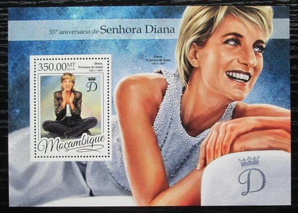 Mosambik 2016 Princezna Diana Mi# Block 1179 Kat 20€ 2457 - Filatelie
