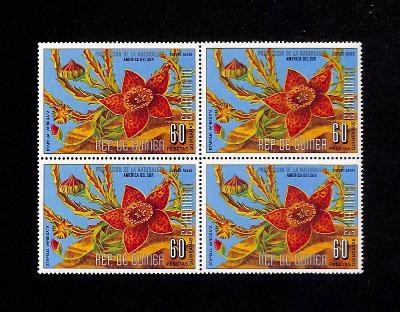 { 197 } - ROVNIKOVA GUINEA ** - FLORA - KVETY - 4 BLOK
