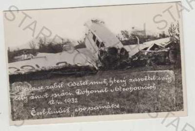 Zlín, Baťa, letadlo, katastrofa, nehoda