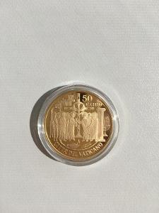 Mincovna Vatikán pamětní zlatá mince, 50EUR, rok 2019