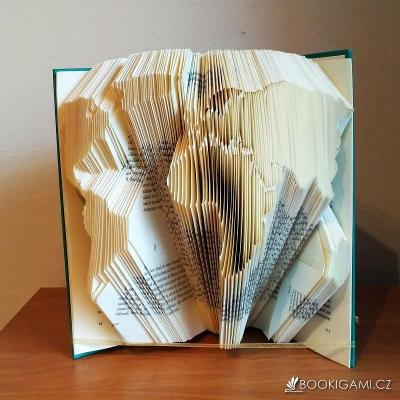 MAPA SVĚTA - Originální skládaná kniha