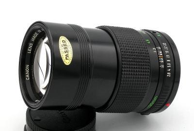 Objektiv CANON FD 135/2,8 + KRYTKA, ve funkčním stavu (Baj. Canon)