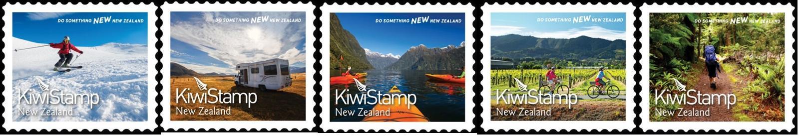 Nový Zéland 2021 Známky ** cestovní ruch sport lyžování kanoistika