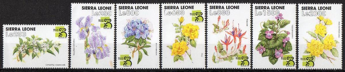 Sierra Leone-Flóra 1999**  Mi.3178-3185 / 11 €