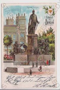 Německo - Berlín - Bismacrk socha, litografie, kol