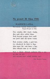 TEXT MARSEILLAISY - VLAJKA - 7-YW67