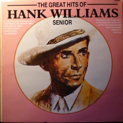 🎤 LP Hank Williams Snr. – The Great Hits Of Hank Williams Senior