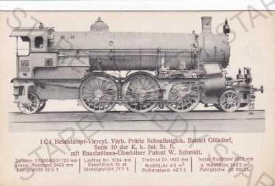 Parní lokomotiva 1C1, série 10