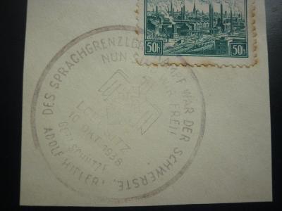 PR SST 10 OKTOBER 1938 LOBOSITZ LOVOSICE TEREZIN LITOMĚŘICE SUDETY!! R
