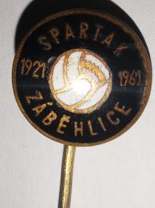Odznak S. K. Spartak Záběhlice 1921-1961