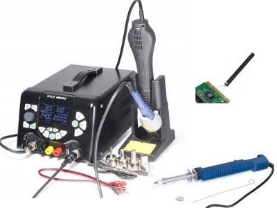 Pájecí Stanice WEP 853D 5A II 3v1 ZDROJ 30V5A + Cínový odsávač