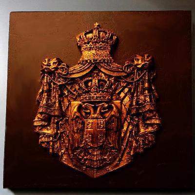 Velký Erb -Znak s Baldachýnem ,Orlicí a Císařskou Korunou 260x240mm