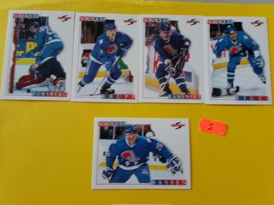 Hokejové kartičky NORDIQUES 1995
