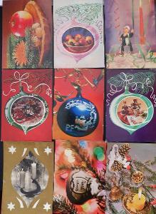 39ks pohlednic - Vánoce 1970-79