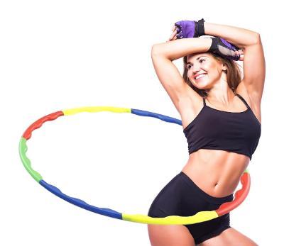 Cvičební krůh hula hop lze rozložit snadná montáž AUKCE od 1 kč B