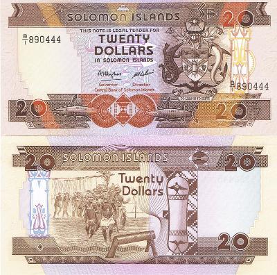 Šalamounovy ostrovy 20 dol P-16 1986 UNC