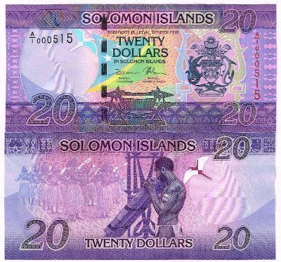 Šalamounovy ostrovy 20 dol P-34 2017 UNC