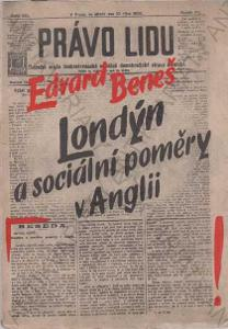 Londýn a sociální poměry v Anglii Edv. Beneš 1943