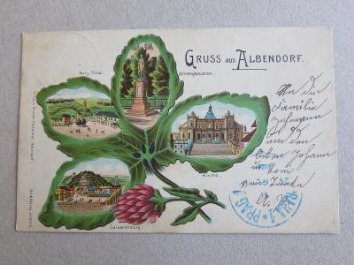 Albendorf Vambeřice Wambierzyce Polska Polsko litografie k