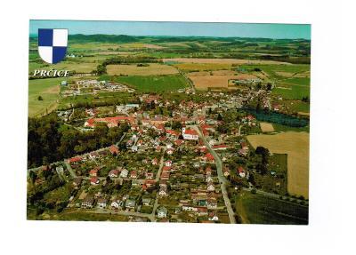 Prčice - okres Příbram - letecký - erb