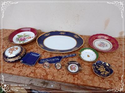 *** Luxusní sběratelské zdobené malované kobaltové talíře dekorace ***