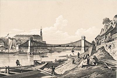 Děčín, litografie, (1860)