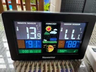 Meteorologická stanice Newentor Bezdrátový vnitřní venkovní teploměr
