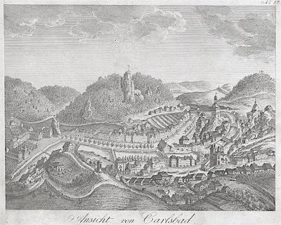 Karlovy Vary , mědiryt , (1820)