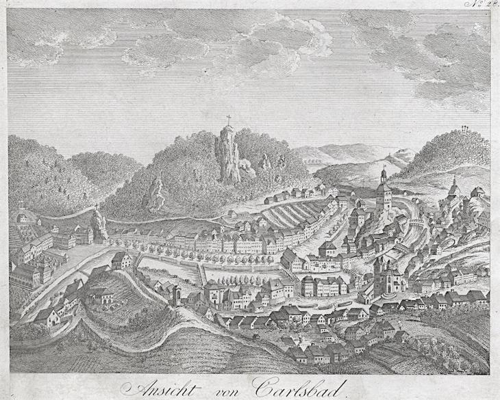 Karlovy Vary , mědiryt , (1820) - Antikvariát