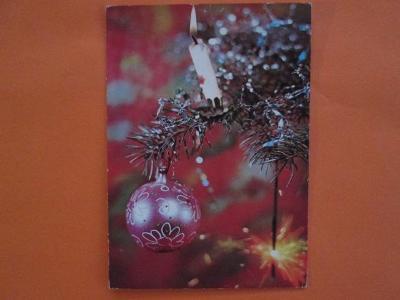 Pohlednice - VÁNOCE - staré vánoční ozdoby