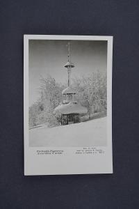 Pohlednice Radhošť Pustevny Zvonička v zimě