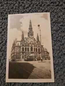 Stará pohlednice, Liberec Pohled na radnici?,prošlá