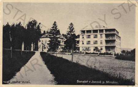 Mirošov, plicní sanatorium Janov