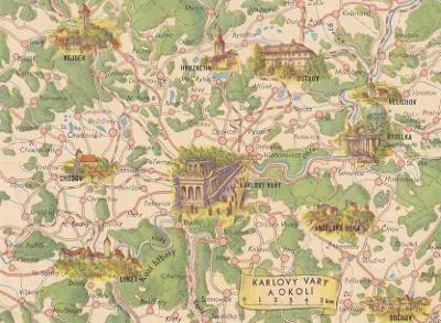 KARLOVY VARY - MAPKA - POHLEDNICE - 30-WY6