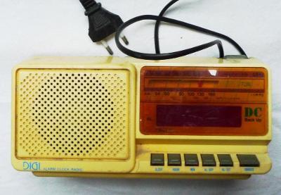 Staré tranzistorové rádio - budík - Britský NAPOSLEDY!!