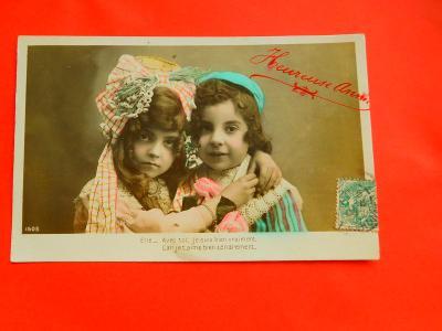 DĚVČÁTKO CHLAPEC 1908