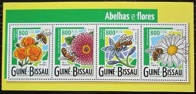 Guinea-Bissau 2015 Včely a květiny Mi# 7915-18 Kat 13€ 2463