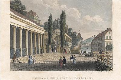 Karlovy Vary, kolor.oceloryt, (1840)