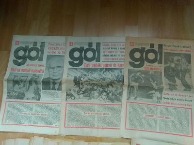 Sportovní časopis GÓL, ročník 1988, čísla 1- 39.