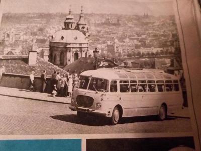 Autobusy,v katalogu Dovolená v ČSSR 1969 Čedok