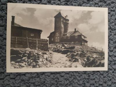 Stará pohlednice Ještěd, prošlá