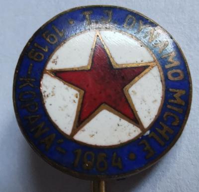 Odznak T. J. Dynamo Michle 1919-1964