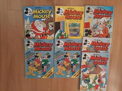 Mickey Mouse 03/1990 ; 01,07,09,11/1992