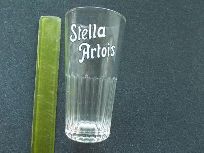 Stará sklenice pivo dekorativní perfektní dnes již jiné logo ojedinělá