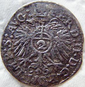 Ferdinand II. 2 krejcar 1636 r.Bavaria * RR *