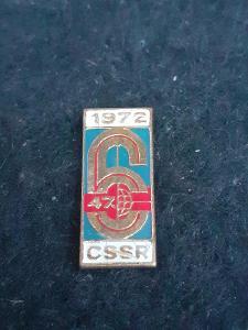 Odznak 47.ŠESTIDENNÍ 1972 ČSSR - motorismus, modrý základ