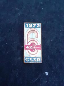 Odznak 47.ŠESTIDENNÍ 1972 ČSSR - motorismus,bílý základ