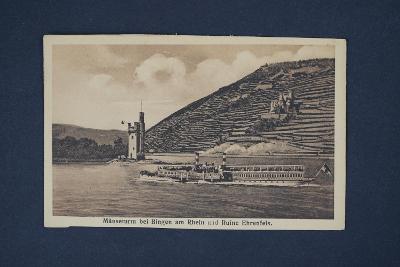 Pohlednice Mäuseturm bei Bingen am Rhein