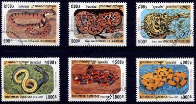 Madagaskar 1993 ʘ/Mi. 1527-32 , komplet , hadi , /0011/